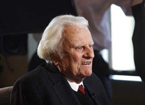 El evangelista Billy Graham, entre los hombres más admirados de EEUU